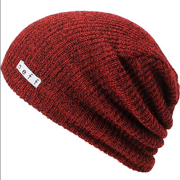 75deed0bec6 NEFF Daily Heather Red   Black Slouch Beanie. M 5a8417408290af2fe4bef6d6